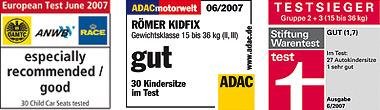 Тесты ADAC детского автокресла Roemer Safefix plus