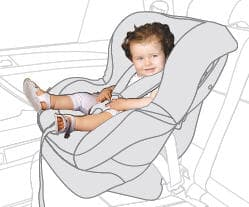 Монтаж по ходу движения для детей от 9 до 18 кг