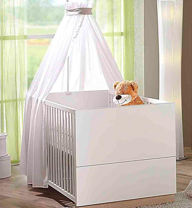 Кровать Geuther Детская кроватка Vista белая geuther детская кроватка geuther aladin