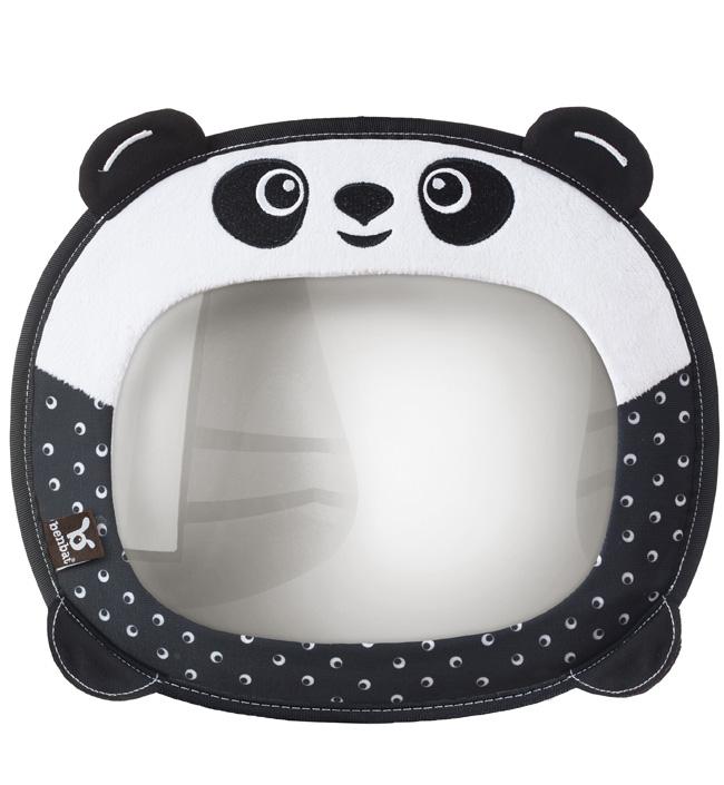 Зеркало для наблюдения за ребенком Benbat Travel FriendsАксессуары для авто и путешествий<br>Зеркало для контроля за ребенком, панда<br><br>Цвет: Панда<br>Габариты ( В х Ш х Д ), см: None