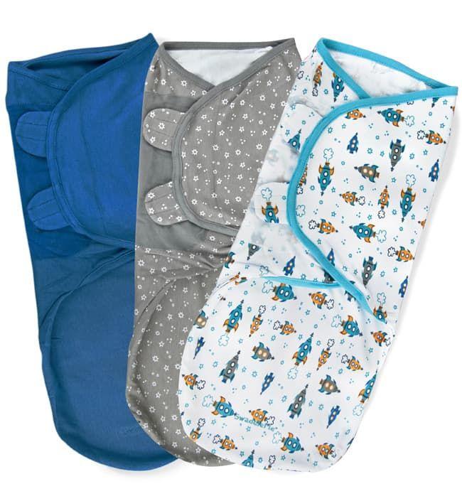 Summer Infant Набор конвертов для пеленания на липучке SwaddleMe Cуперзвезда (3 шт.), размер L