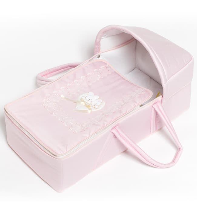 Переноска Italbaby Корзина для переноски Mon Coeur розовая italbaby сумка переноска для новорожденного italbaby mon coeur