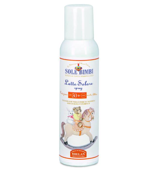 Солнцезащитное молочко-спрей Helan (с высоким фактором защиты SPF 50+) Helan Sole Bimbi, 125 мл