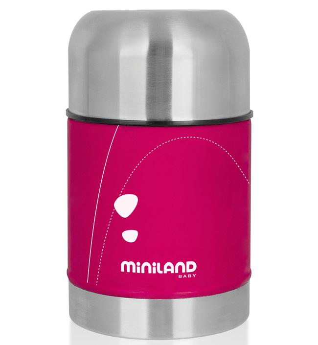 Miniland Термос для еды в сумке 600 мл розовый