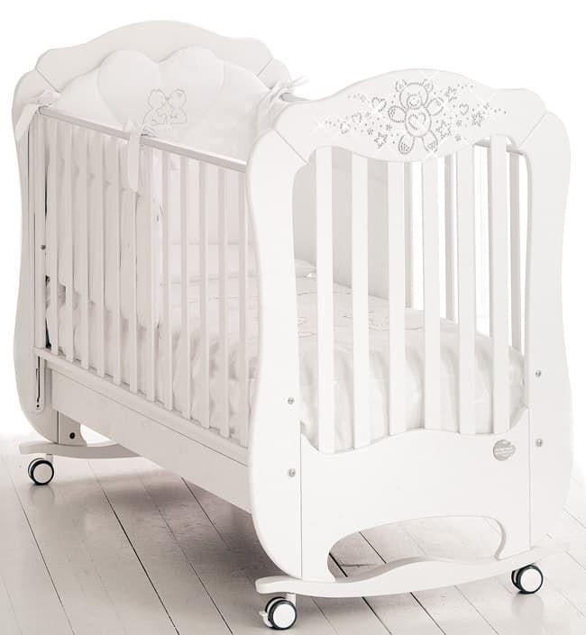 Кровать Baby Expert Детская кровать Baby Expert Diamante белая детская кровать