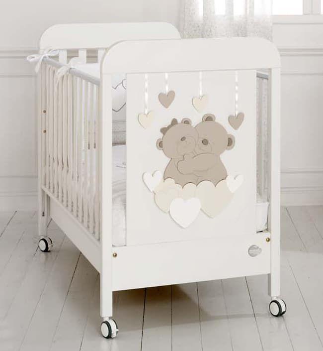 Кровать Baby Expert Детская кровать Tenerezze белая/светло-коричневый кровать baby expert детская кровать baby expert diamante белая