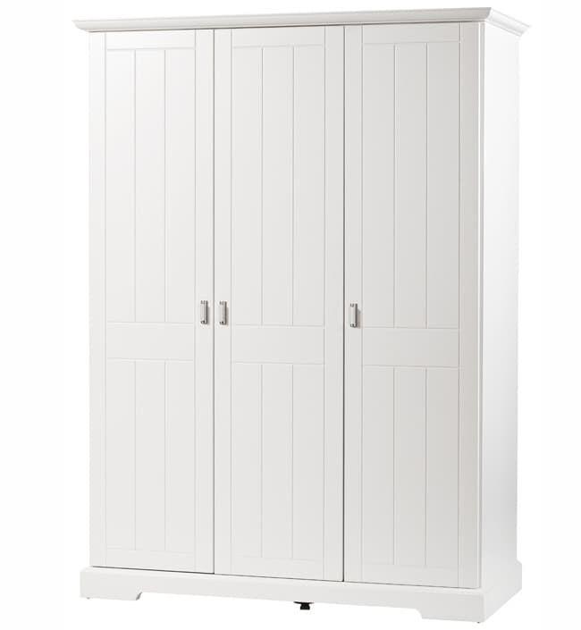 Шкаф Geuther Трехстворчатый шкаф Geuther Cottage белый с бело-серебристыми ручками geuther шкаф трехстворчатый geuther fresh