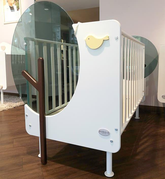 Кровать Baby Expert Детская кровать Baby Expert Bosco с реечными бортами бело-зеленая кровать baby expert кровать baby expert dieci lune бела с декором из ко кожи