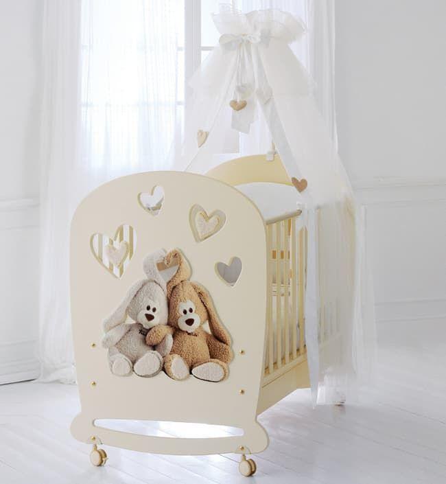 Кровать Baby Expert Детская кровать Cremino by Trudi крем кровать baby expert кровать baby expert abbracci by trudi крем