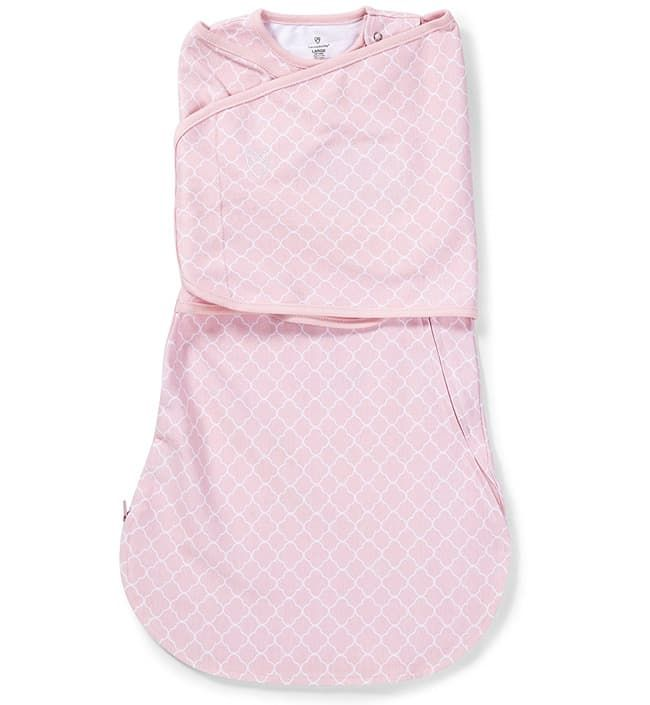 Конверт для пеленания на липучке SwaddleMe LoveSack, Розовый с орнаментом (размер l)