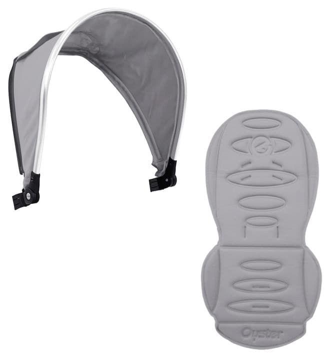 Набор цветных вставок Colour pack для второго блока Oyster MaxАксессуары для колясок<br>Colour pack Pure Silver (капюшон, текстиль) для 2-го сиденья Oyster MAX<br><br>Цвет: Pure Silver<br>Габариты ( В х Ш х Д ), см: None