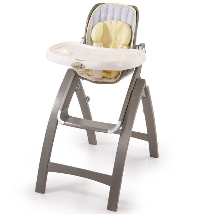 Стульчик для кормления Summer Infant Складной стульчик BentWood графит summer infant люлька summer infant bentwood с электронной системой укачивания
