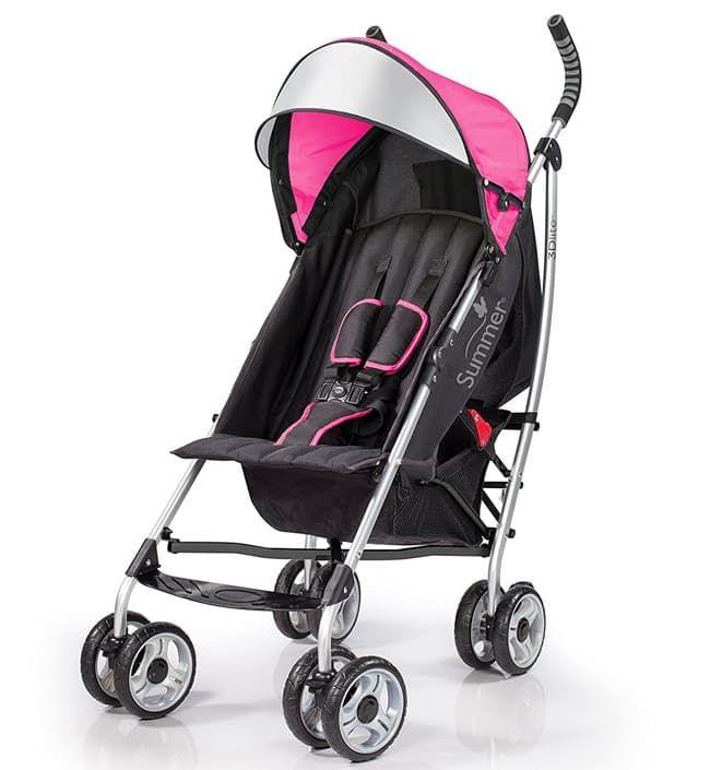Коляска Summer Infant Детская прогулочная коляска-трость Summer Infant 3D Lite Hibiscus Pink розовая прогулочная коляска carmella princess pink