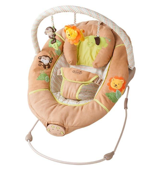 Люлька с укачиванием Summer Infant Люлька с автоукачиванием Swingin Safari бежевая summer infant люлька summer infant bentwood с электронной системой укачивания