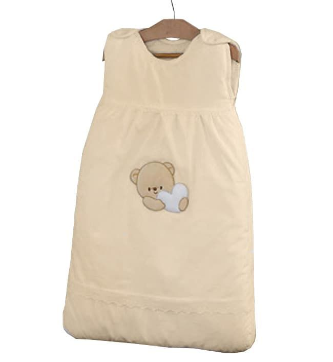 Теплый детский спальник-конверт Cuoricini бежевый (Italbaby)