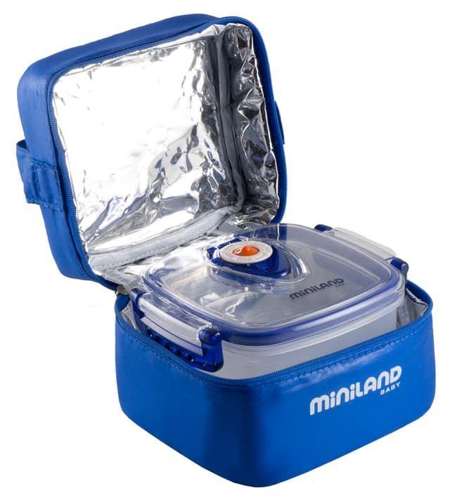 Термосумка с 2 вакуумными контейнерами синяя (Miniland)