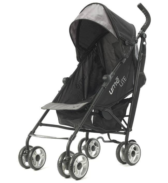 Коляска Summer Infant Детская прогулочная коляска-трость Summer Infant Ume Lite черно-серая corol прогулочная s 3 светло серая