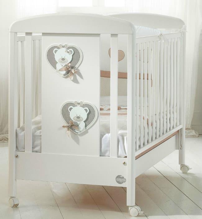 Кровать Baby Expert Кровать Baby Expert Duetto белый/серо-бежевый кровать baby expert кровать baby expert abbracci by trudi крем
