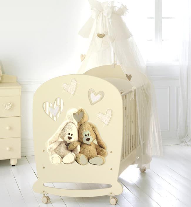 Кровать Baby Expert Cremino Lux by TrudiКровати<br>Детская кровать Cremino Lux крем<br><br>Цвет: Крем<br>Габариты ( В х Ш х Д ), см: 120x82x136