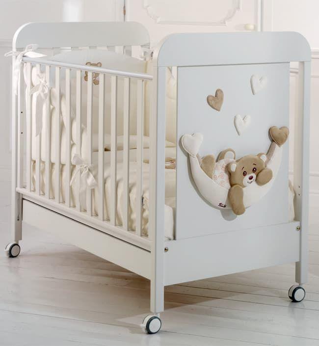 Кровать Baby Expert Кровать  Tenerone by Trudi белая кровать baby expert кровать baby expert abbracci by trudi крем