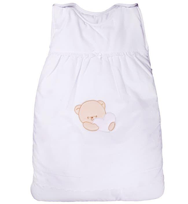 Теплый детский спальник-конверт Cuoricini белый (Italbaby)
