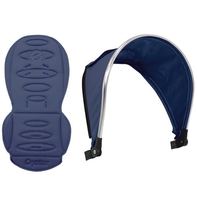 Набор цветных вставок Colour pack для второго блока Oyster MaxАксессуары для колясок<br>Colour pack Oxford Blue (капюшон, текстиль) для 2-го сиденья Oyster MAX<br><br>Цвет: Oxford Blue<br>Габариты ( В х Ш х Д ), см: None
