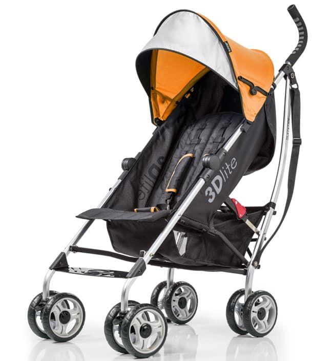 Детская прогулочная коляска-трость Summer Infant 3D LiteДетские коляски<br>Детская прогулочная коляска 3D Lite, оранжевый<br><br>Цвет: Tangerine (оранжевый)<br>Габариты ( В х Ш х Д ), см: 109х45,7х68,5