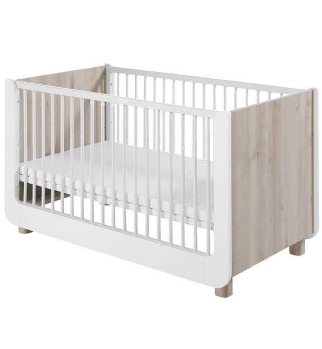 Кровать Geuther StellaКровати<br>Детская кроватка Stella<br><br>Цвет: Белый<br>Габариты ( В х Ш х Д ), см: 70 x 140