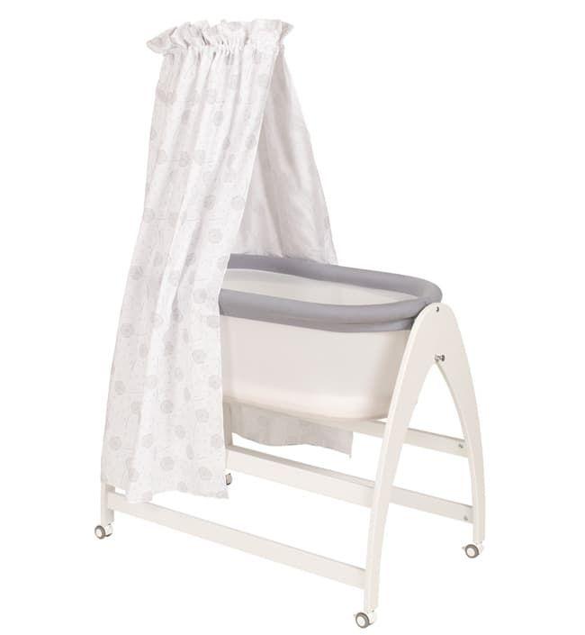 Кроватка Geuther Детская кроватка-люлька Geuther Lyn бело-серая geuther детская кроватка geuther aladin