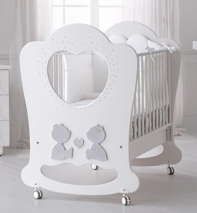 Кровать Baby Expert Кровать Baby Expert Cuore di Mamma белая/платина кровать baby expert детская кровать baby expert diamante белая