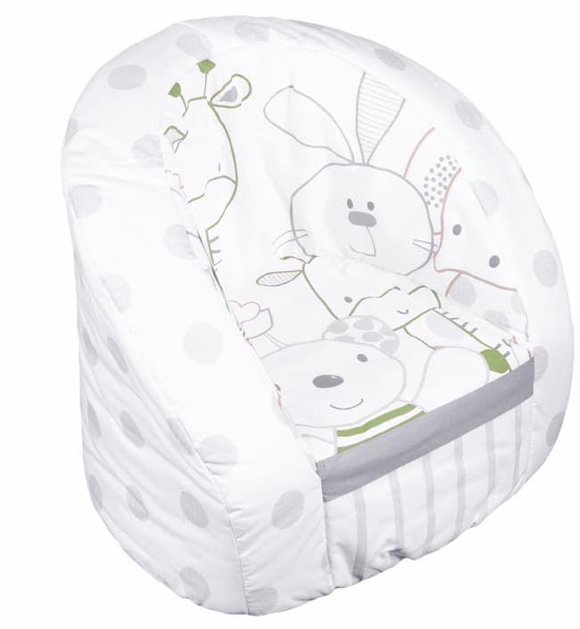 Кресло Italbaby Мягкое детское кресло Rabbit серо-зеленое детское