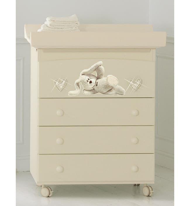 Пеленальный комод Baby Expert Cremino Lux by TrudiПеленальные комоды<br>Пеленальный комод Cremino Lux крем<br><br>Цвет: Крем<br>Габариты ( В х Ш х Д ), см: 91x76x47