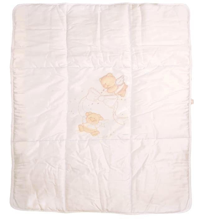 Теплое стеганое игровое одеяло Italbaby Sweet Angels крем