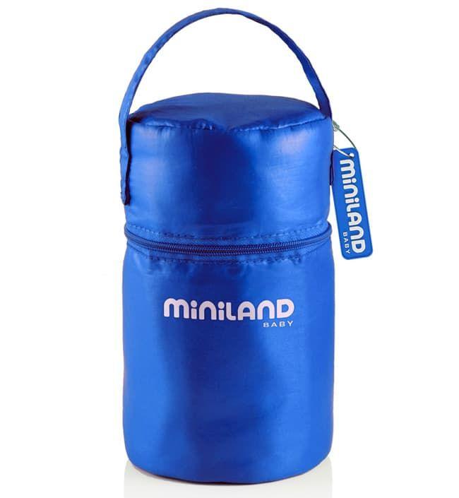 Термосумка с 2 мерными стаканчиками синяя (Miniland)