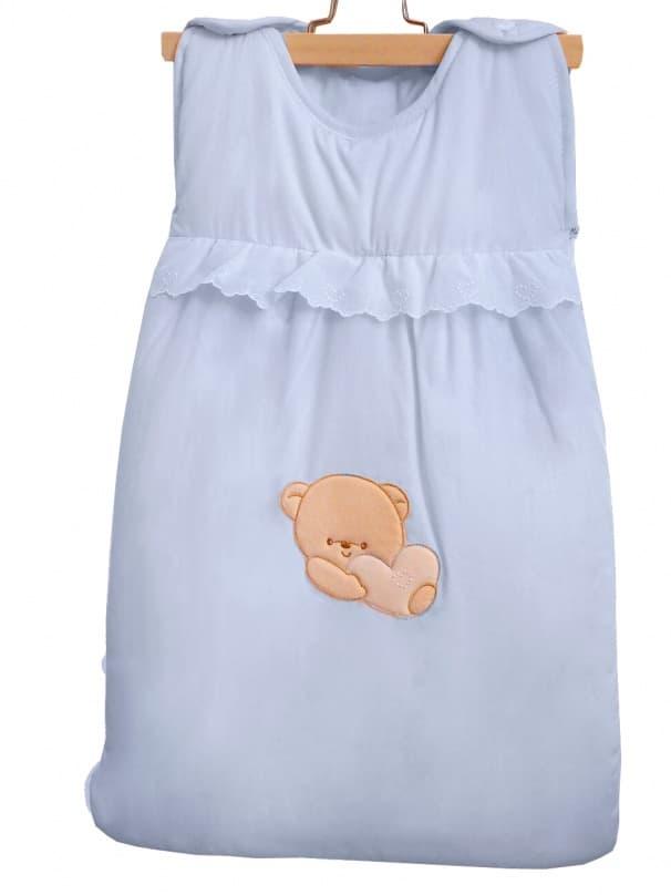Теплый детский спальник-конверт Cuoricini голубой (Italbaby)