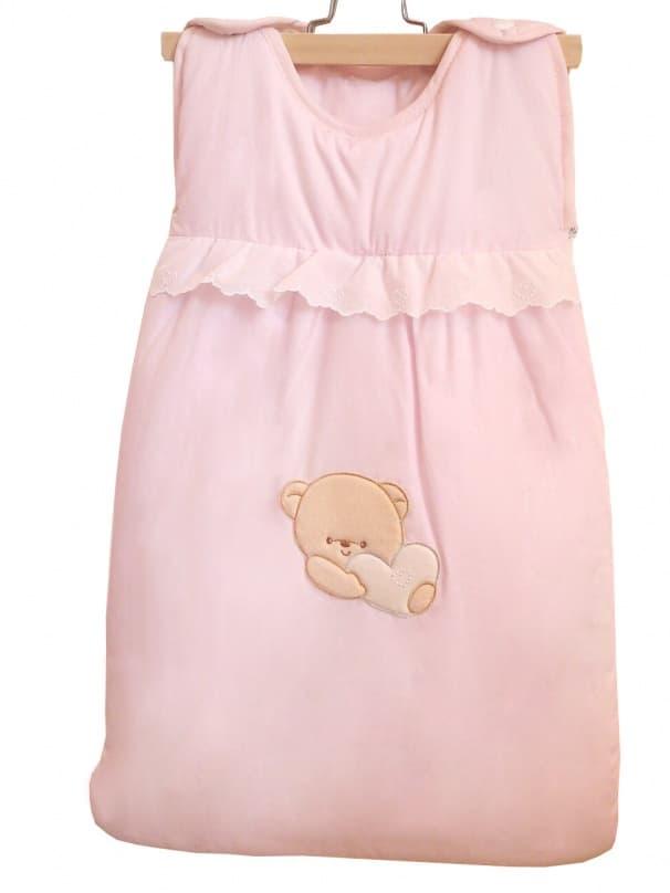 Теплый детский спальник-конверт Cuoricini розовый (Italbaby)