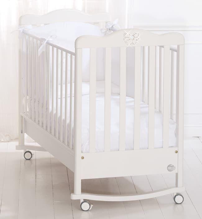 Кровать Baby Expert Кровать Fiocco белая кровать baby expert детская кровать baby expert diamante белая