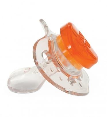 Прозрачная соска-пустышка BornFree с кнопкой (Уровень 2: с 6 мес.)