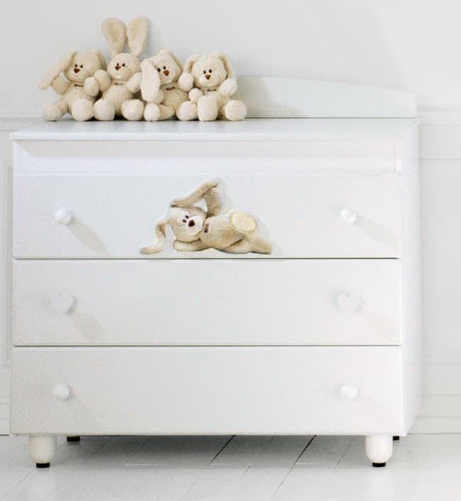Комод бельевой Baby Expert Abbracci-Trudi (крем)