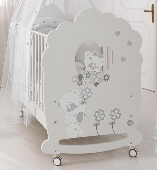 Кровать Baby Expert SerenataКровати<br>Детская кровать Serenata белый<br><br>Цвет: Белый<br>Габариты ( В х Ш х Д ), см: 130x82x115