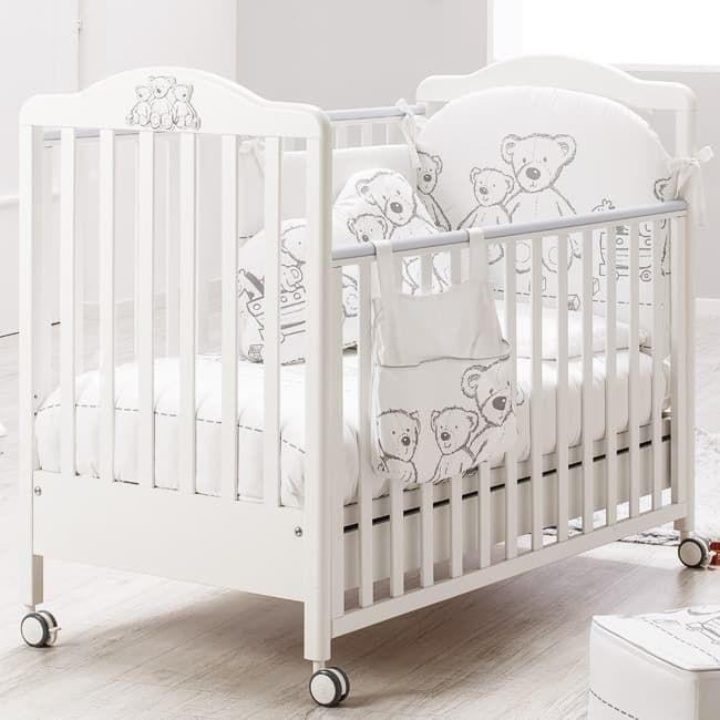 Кровать Italbaby Детская кровать Teddy Toys белая