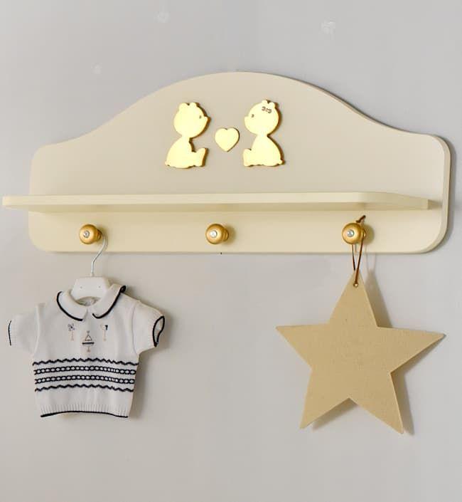 Полка-вешалка Baby Expert Полка-вешалка Cuore di Mamma крем/золото baby expert вешалка полка baby expert akoya