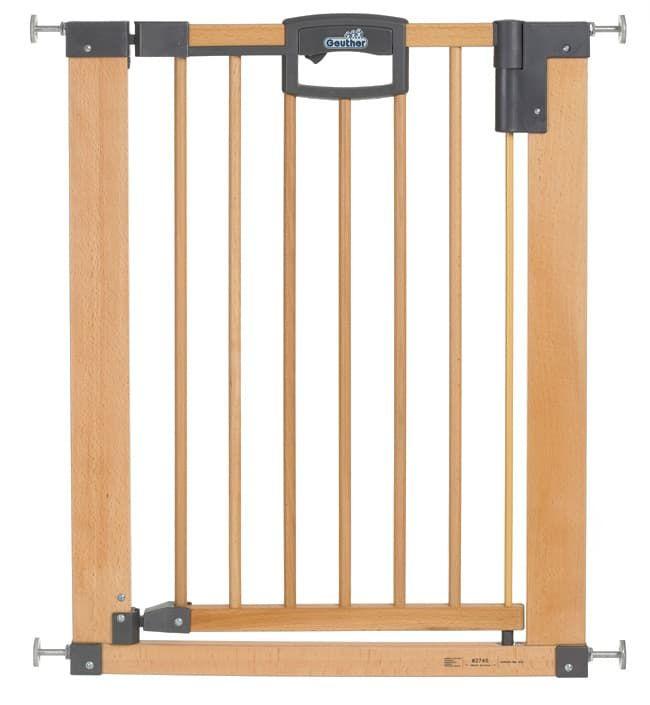 Ворота безопасности Geuther Easy Lock Natural (дерево/металл), ширина  68,5-76,5 см
