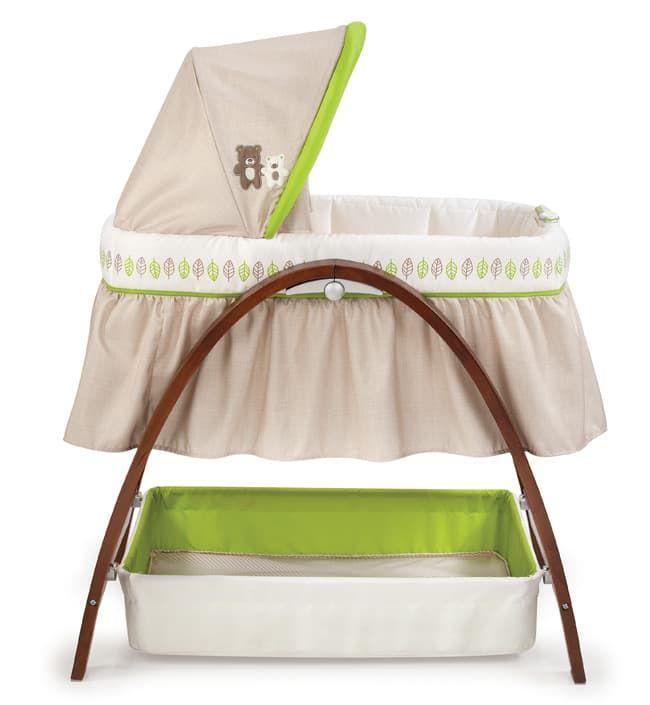 Люлька с укачиванием Summer Infant Кроватка-люлька с автоукачиванием BentWood темное дерево
