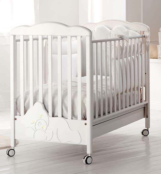 Кровать Baby Expert Кровать Baby Expert Coccolo Lux белая (со стразами) кровать baby expert детская кровать baby expert diamante белая