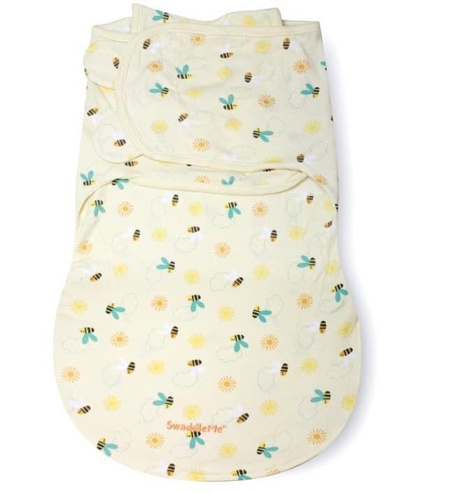Конверт для пеленания с 2 способами фиксации SwaddleMe WrapSack Sunny Bee (с пчелками), размер S