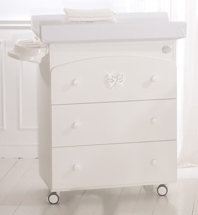 Пеленальный комод Baby Expert Пеленальный комод Fiocco белый